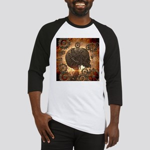 Awesome steampunk Skull with gears Baseball Jersey