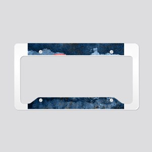 colorado concrete wall flag License Plate Holder