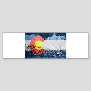 colorado concrete wall flag Bumper Sticker