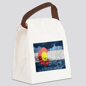 colorado concrete wall flag Canvas Lunch Bag