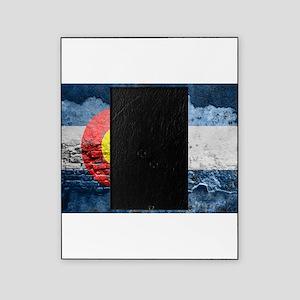 colorado concrete wall flag Picture Frame