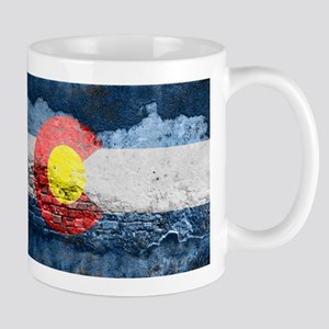 colorado concrete wall flag Mugs