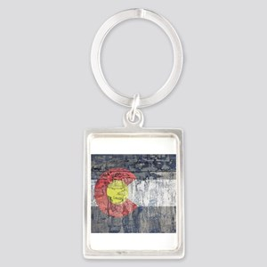 colorado flag paint chips Keychains