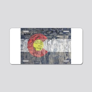 colorado flag paint chips Aluminum License Plate