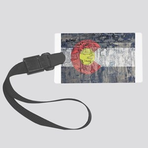 colorado flag paint chips Luggage Tag