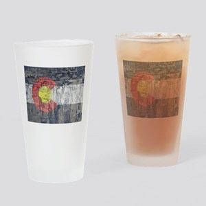colorado flag paint chips Drinking Glass