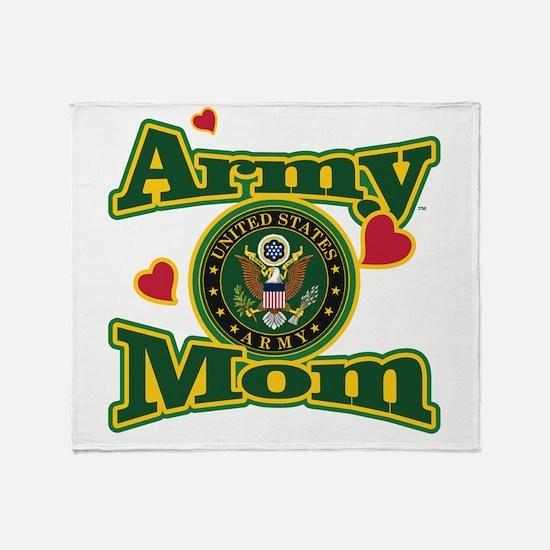Army Mom Throw Blanket