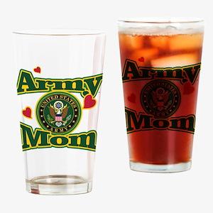 Army Mom Drinking Glass