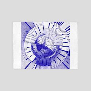 Futuristic abstract 5'x7'Area Rug