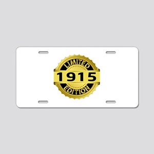 Limited Edition 1915 Aluminum License Plate