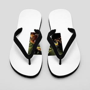 2e082a9b9db2 Dragones Flip Flops - CafePress