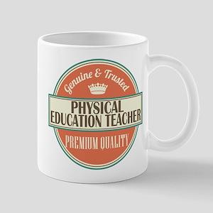 physical education teacher vintage logo Mug