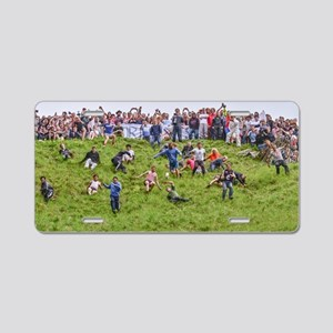 CHEESE ROLLING , COOPERS HI Aluminum License Plate