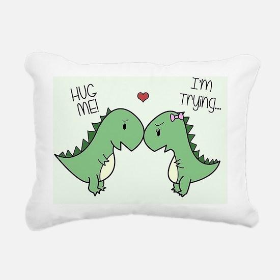 Cute Tyrannosaurus rex Rectangular Canvas Pillow