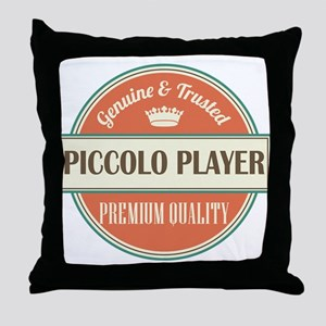 piccolo player vintage logo Throw Pillow