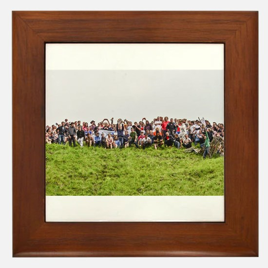 CHASE THE CHEESE, CHEESE ROLLING , COO Framed Tile