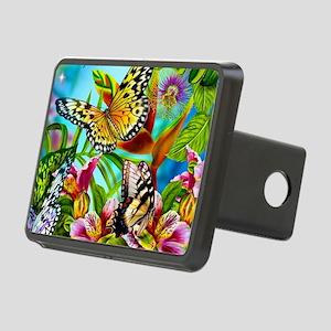 Beautiful Butterflies And Flowers Rectangular Hitc