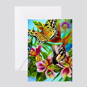 Beautiful Butterflies And Flowers Greeting Cards
