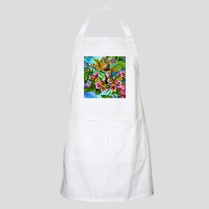 Beautiful Butterflies And Flowers Apron