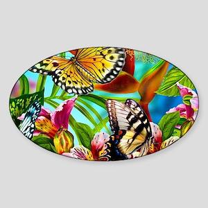 Beautiful Butterflies And Flowers Sticker