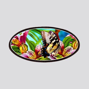 Beautiful Butterflies And Flowers Patch