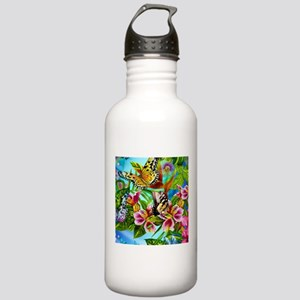 Beautiful Butterflies And Flowers Sports Water Bot