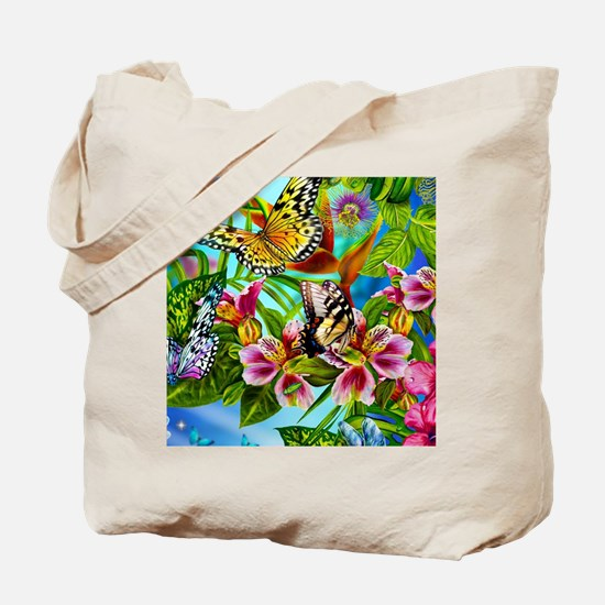 Beautiful Butterflies And Flowers Tote Bag