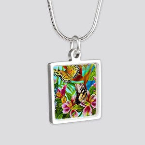 Beautiful Butterflies And Flowers Necklaces