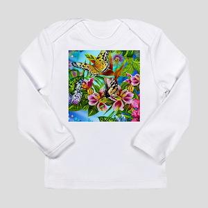 Beautiful Butterflies And Flowers Long Sleeve T-Sh