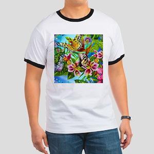 Beautiful Butterflies And Flowers T-Shirt