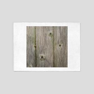 old grey wood 5'x7'Area Rug