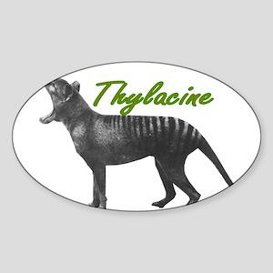 Thylacine Oval Sticker