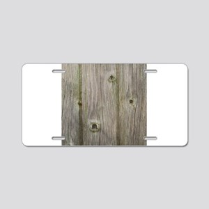 old grey wood Aluminum License Plate