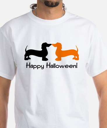 Dachshund Halloween White T-Shirt