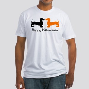 Dachshund Halloween Fitted T-Shirt
