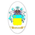 Negru Sticker (Oval 50 pk)