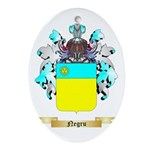 Negru Oval Ornament