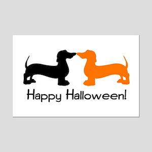 Dachshund Halloween Mini Poster Print