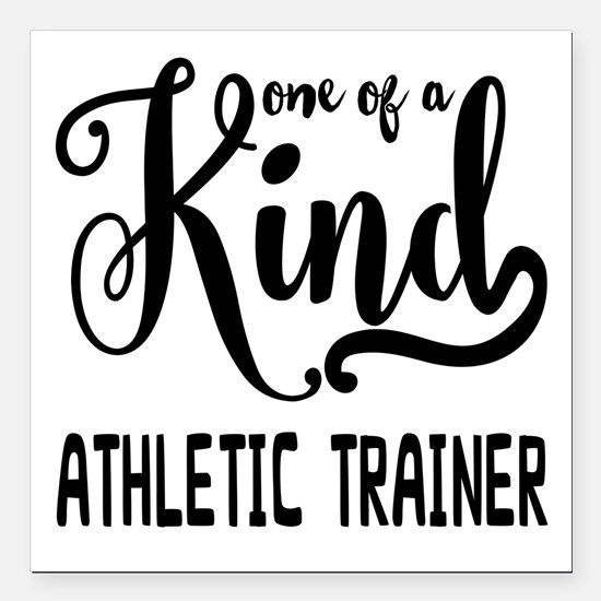 """One of a Kind Athletic T Square Car Magnet 3"""" x 3"""""""