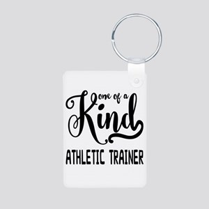 One of a Kind Athletic Tra Aluminum Photo Keychain