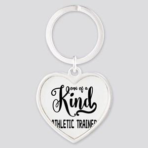 One of a Kind Athletic Trainer Heart Keychain