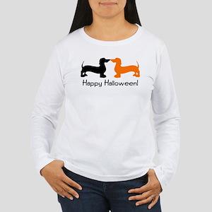 Dachshund Halloween Women's Long Sleeve T-Shirt