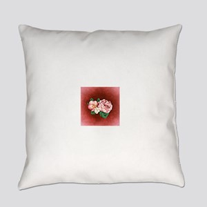 Pink and Red Chrysanthemums Everyday Pillow