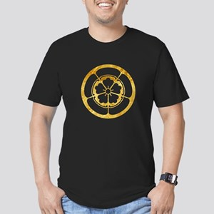 Oda Mon Japanese samurai clan gold on black T-Shir