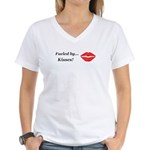 Fueled by Kisses Women's V-Neck T-Shirt