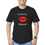 Fueled by Kisses Men's Fitted T-Shirt (dark)