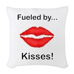Fueled by Kisses Woven Throw Pillow