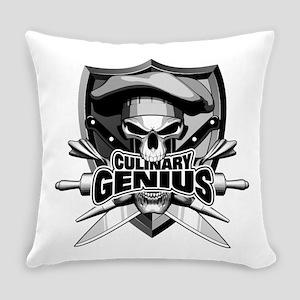 Culinary Genius Skull Everyday Pillow