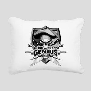 Culinary Genius Skull Rectangular Canvas Pillow