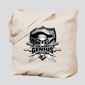 Culinary Genius Skull Tote Bag